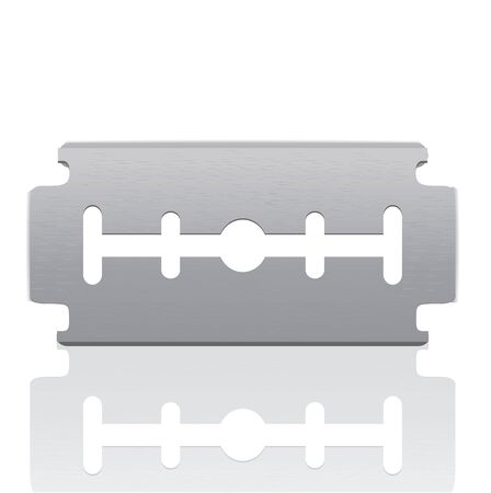 Razor Blade isolated on white  Stock Vector - 12437747