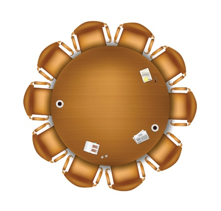 round chairs: Round meeting table