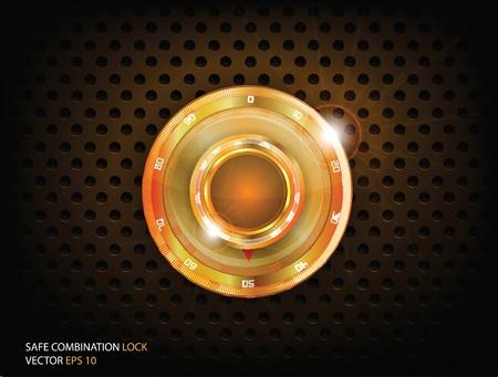 cajas fuertes: Oro Safe Lock Combination Vectores