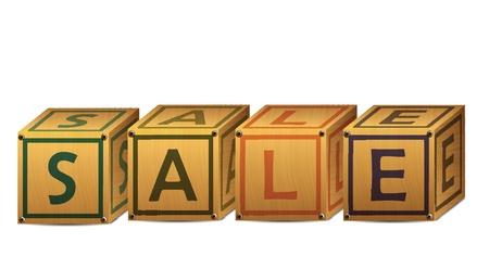 Sale Alphabet Letter Boxes Stock Vector - 12437928