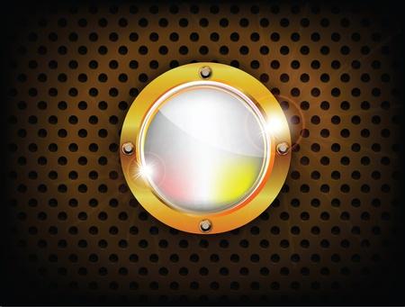 Shiny button Stock Vector - 12437933