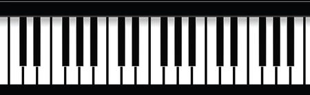 keyboard keys: Piano Keys  Illustration