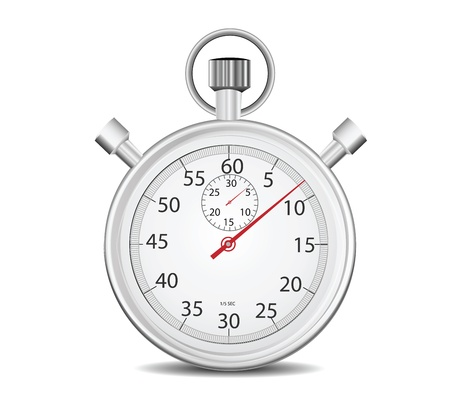 Cronómetro aislado en blanco