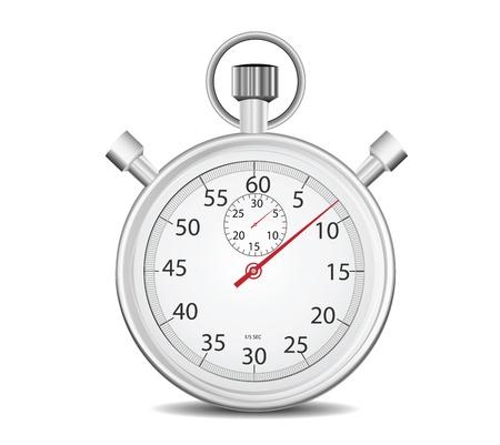 cronometro: Cronómetro aislado en blanco