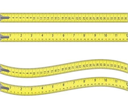 cintas metricas: Cinta métrica aislado en blanco