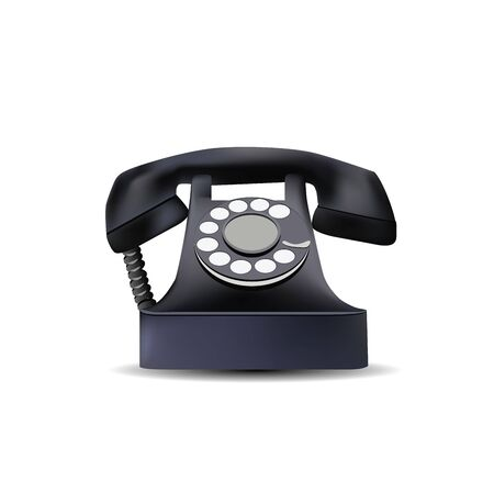 conventional: Telephone Isolated  Illustration
