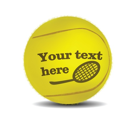 Tennis Ball with space for text isolated on white  Vector