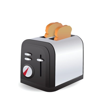 Toaster Isolated Stock Vector - 12436822