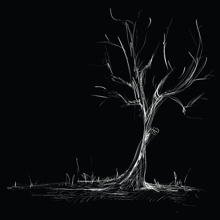 Hand Drawn Tree Sketch