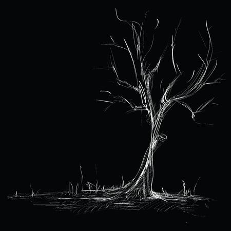 Hand Drawn Tree Sketch Stock Vector - 12436910