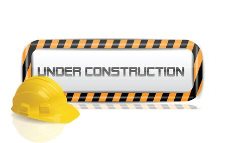 building safety: Under Construction  Illustration