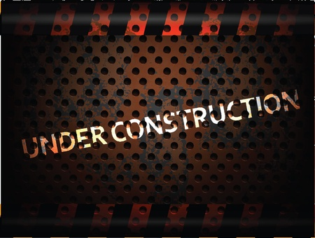 chrome metal: Under Construction Background