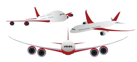 Airplanes Isolated on white  Stock Vector - 12436835