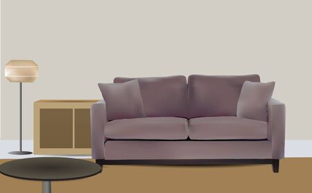 red couch: Living Room