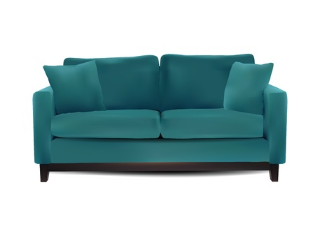 sofa furniture: Sofa isolated on white