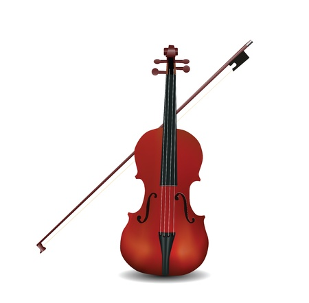 violin isolated  Vector