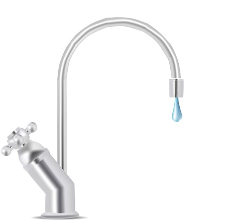 Water Tap Dripping  Vector