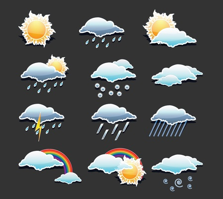 Weather Icons Set  Stock Vector - 12437320