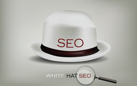 Search Engine Optimization for web SEO White Hat Stock Vector - 12437333