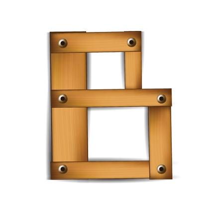 wooden letter Vector