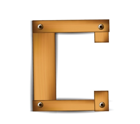 wooden letter Stock Vector - 12437910