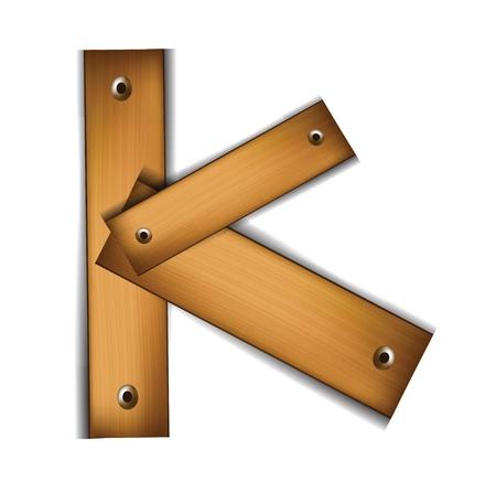 wooden letter Çizim
