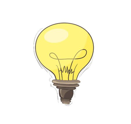 loose: light bulb free-hand drawn  Illustration