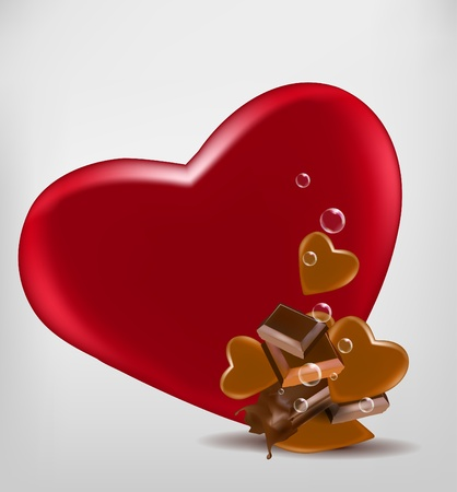 chocolate syrup: Chocolate with hearts