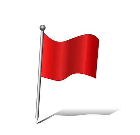 important: Red Flag Icon  Illustration