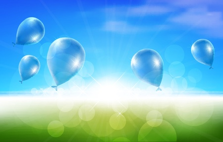 good mood: Nature Background with Balloons
