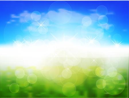 de focus: Spring Background Illustration