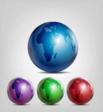 Shiny Earth Globes Vector