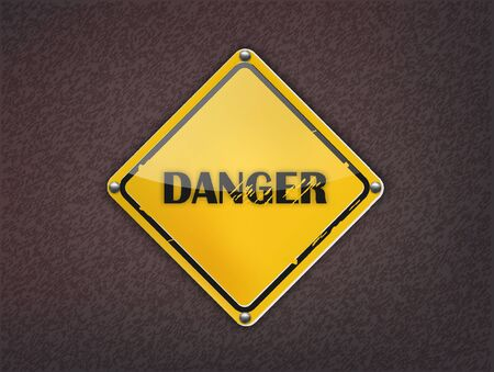 Danger Sign on dark background  Stock Vector - 13361901