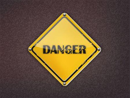 Danger Sign on dark background Stock Vector - 13361901