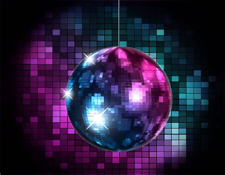 Party Atmosphere with disco globe  向量圖像