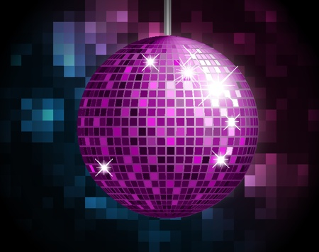discoball: Party Atmosphere with disco globe  Illustration