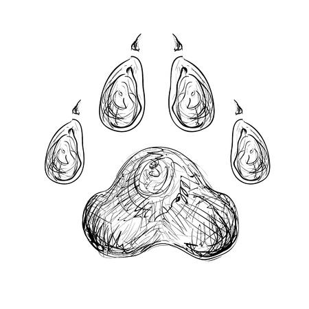 huellas de animales: Resumen estilo de la pata de la mano libre