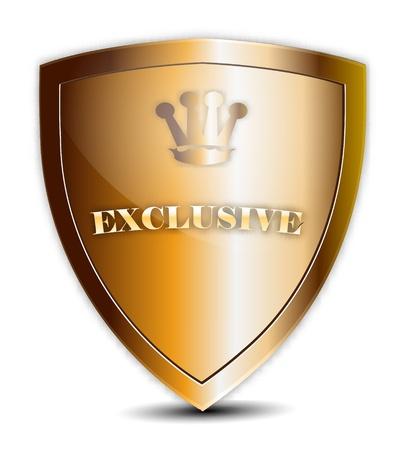 Exclusive Golden Shield