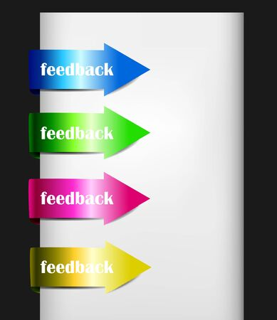 feedback sticker: Arrow Sticker Set