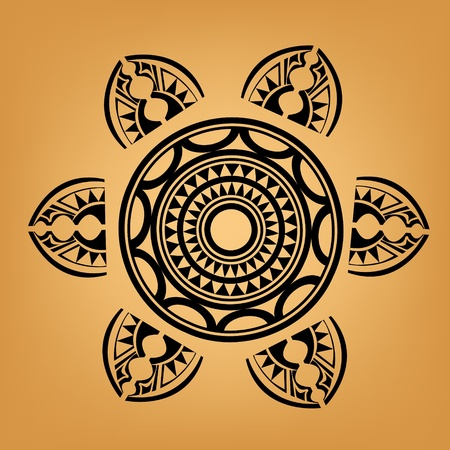 maories: Maor�es del tatuaje de estilo polinesio