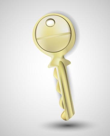 Key on grey background Stock Vector - 13361879