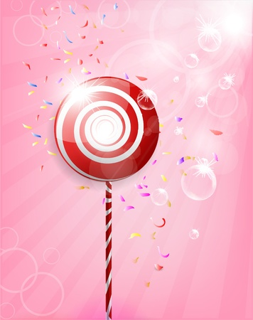 Lollipop Shiny Background Illustration  Vector