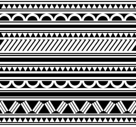 Maoríes pulsera de estilo polinesio tatuaje Ilustración de vector