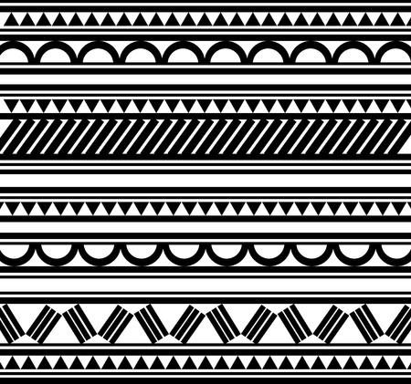 tribal: Maoris bracelet polyn�sien tatouage style Illustration