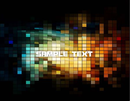 Mosaic Background with Sample Text  Stock Vector - 13361880