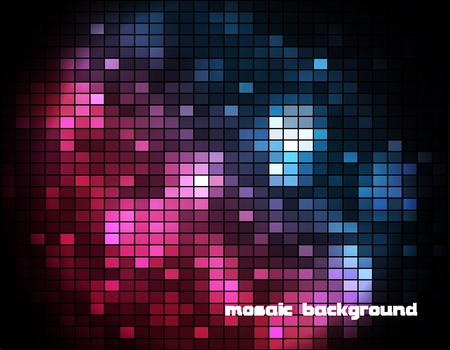 Mosaic Background with Sample Text