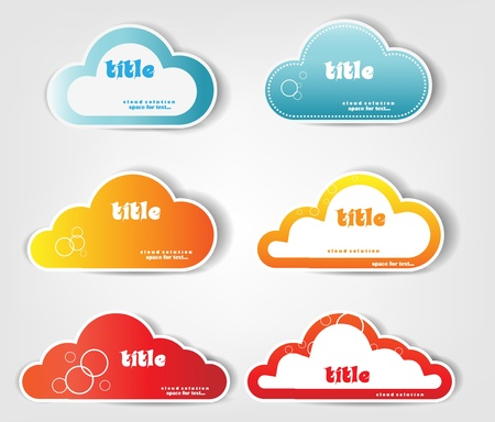 cloud stickers Stock Vector - 13361862
