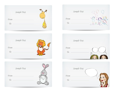 personalized: Personalized letter-cards Editable