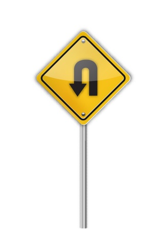 Turn back road sign,  illustration  Vector