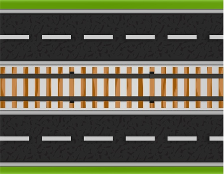 Roads and Railway  Vector
